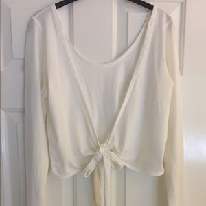 Lululemon It's a Tie Wrap Long Sleeve White Size 8